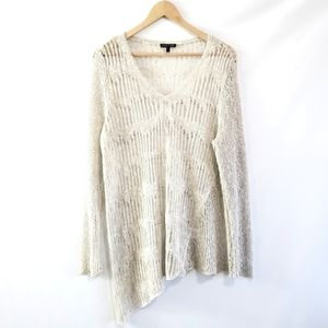Eileen Fisher Asymmetrical Knit Linen Sweater